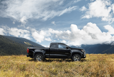 2015 Chevrolet Colorado black extended cab