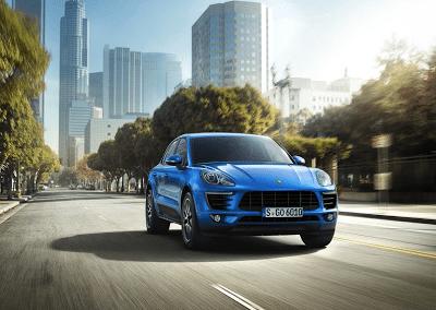 2015 Porsche Macan S blue front