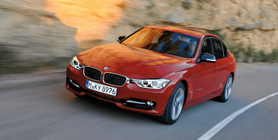 2012 BMW 3-Series sedan red