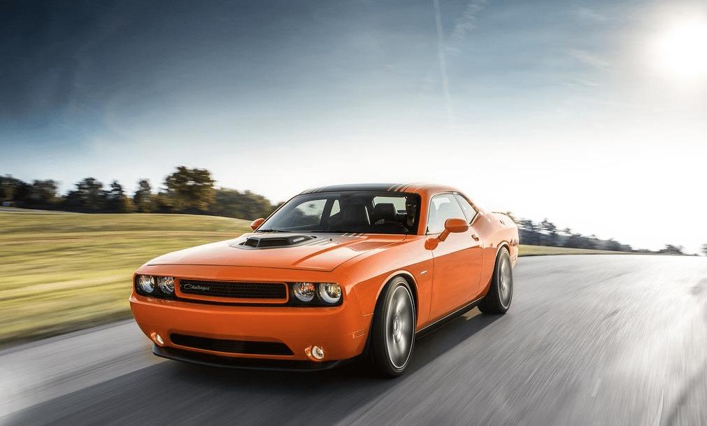 2014 Dodge Challenger R/T orange