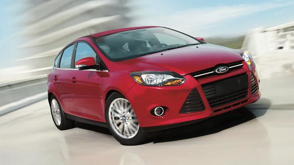 2014 Ford Focus red hatchback