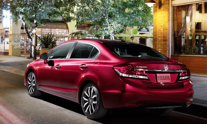 2014 Honda Civic sedan red
