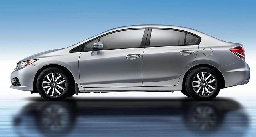 2014 Honda Civic silver sedan
