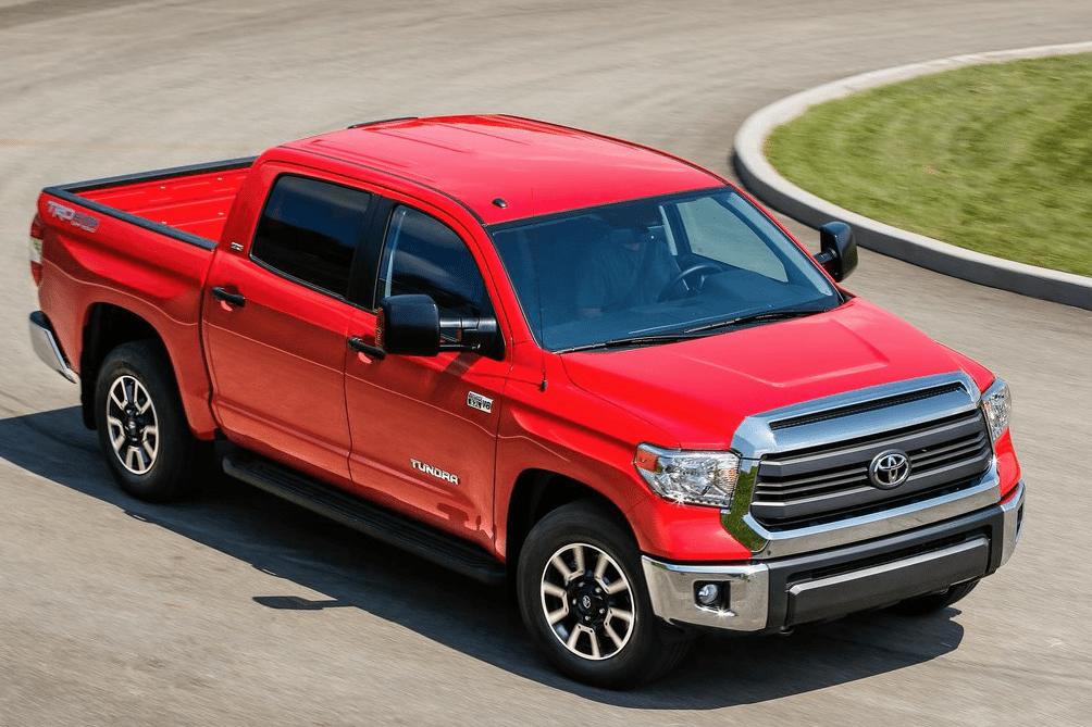 2014 Toyota Tundra red crew cab