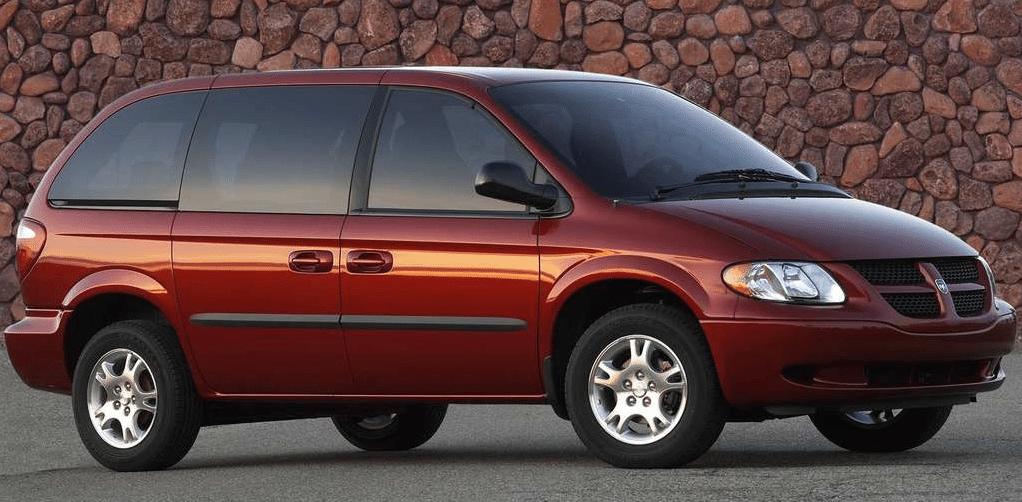 2004 Dodge Caravan red short wheelbase