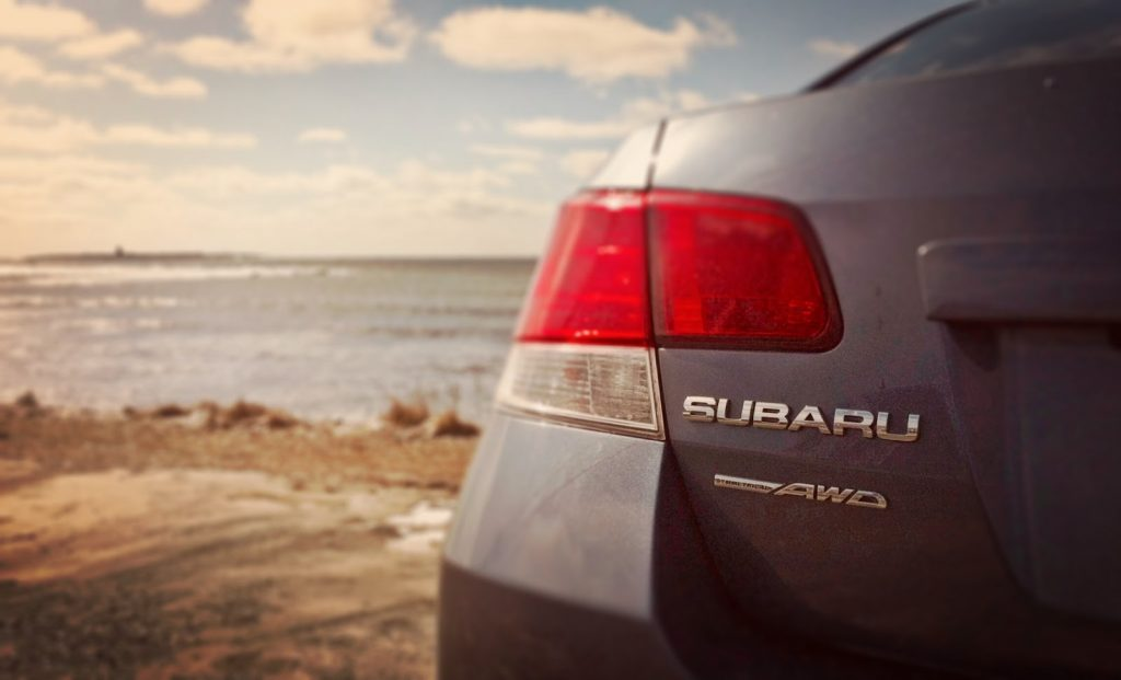 Subaru Legacy symmetrical AWD badge