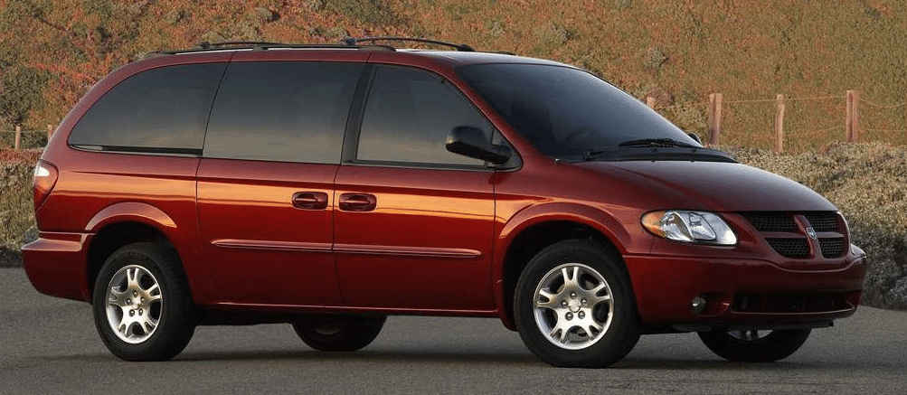 2004 Dodge Grand Caravan SXT red