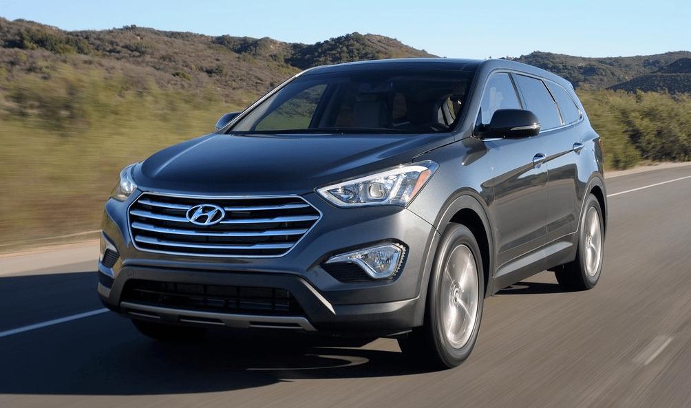 2014 Hyundai Santa Fe XL green