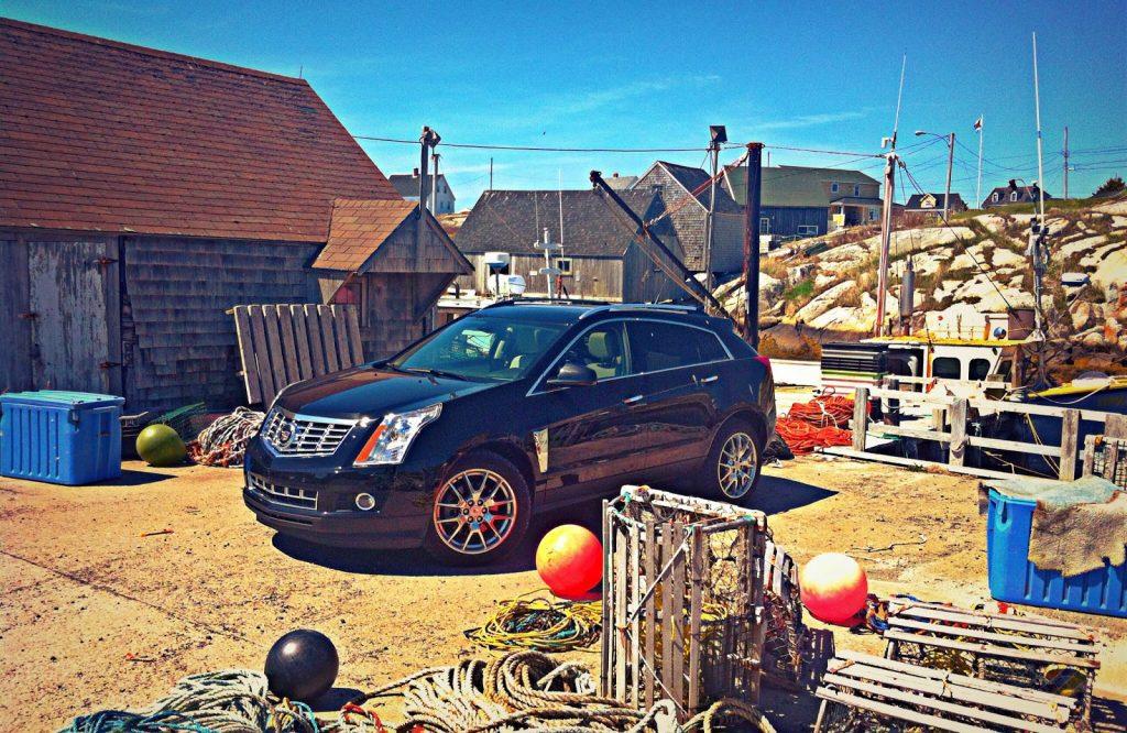 2014 Cadillac SRX Peggy's Cove wharf