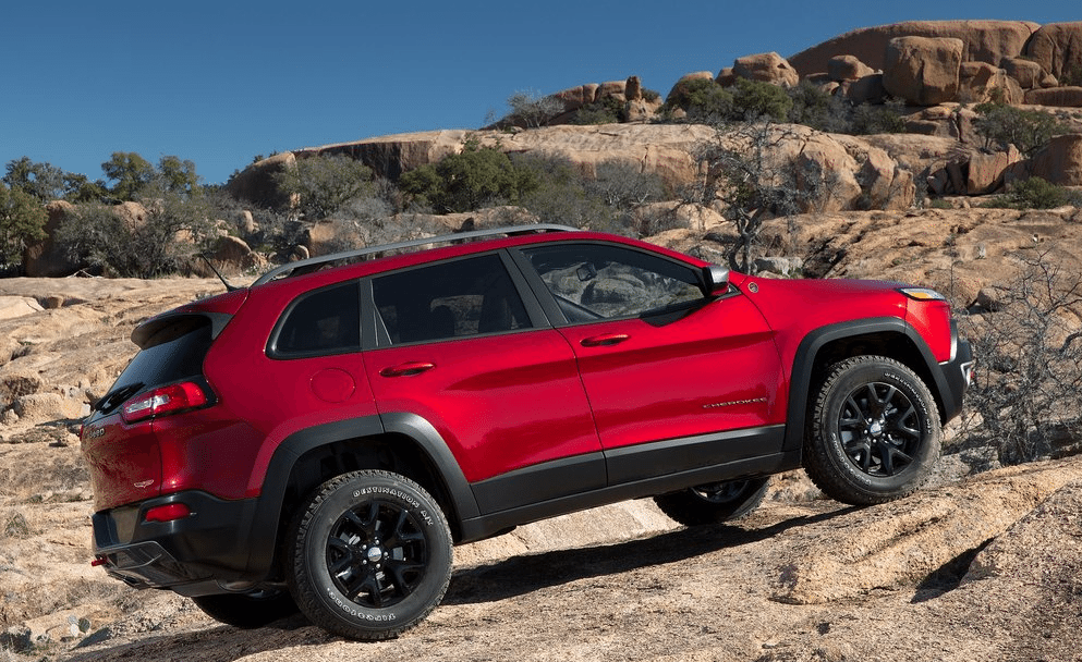2014 Jeep Cherokee trailhawk red