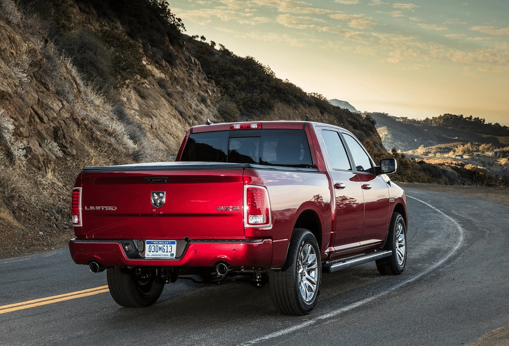 2014 Ram 1500 Limited red crew cab