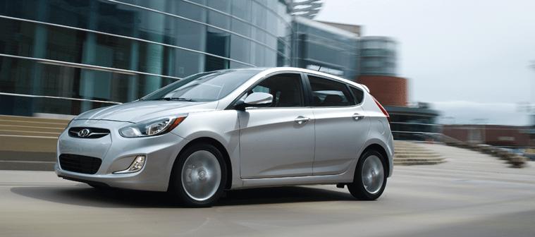 2014 Hyundai Accent silver