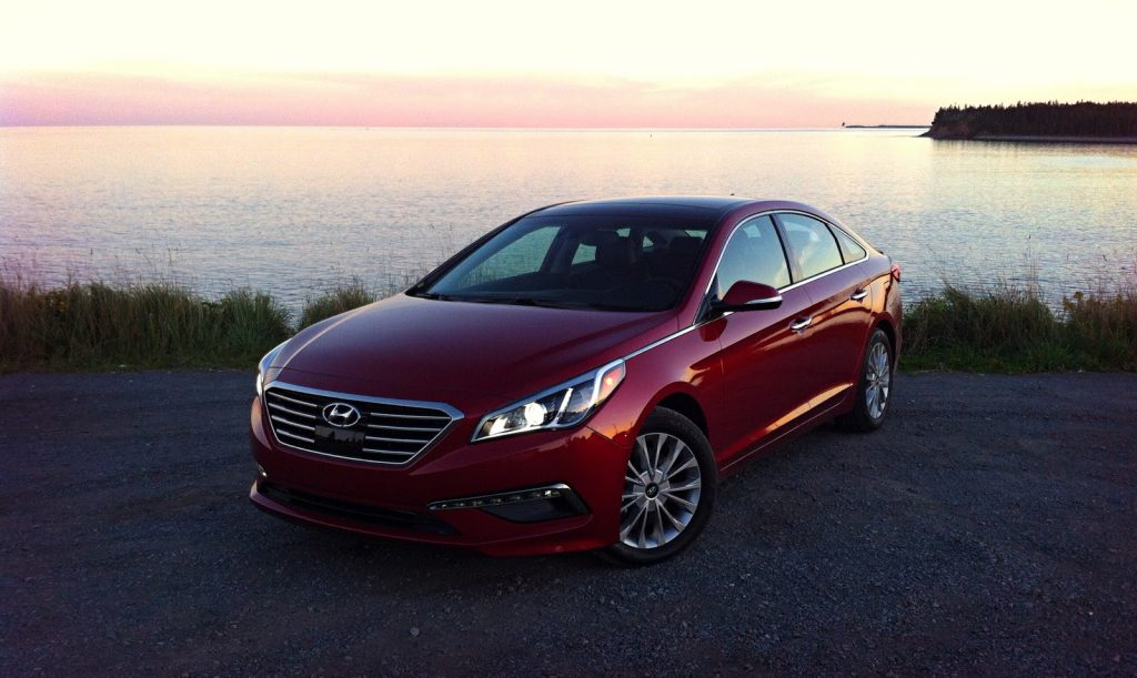 2015 Hyundai Sonata Limited red