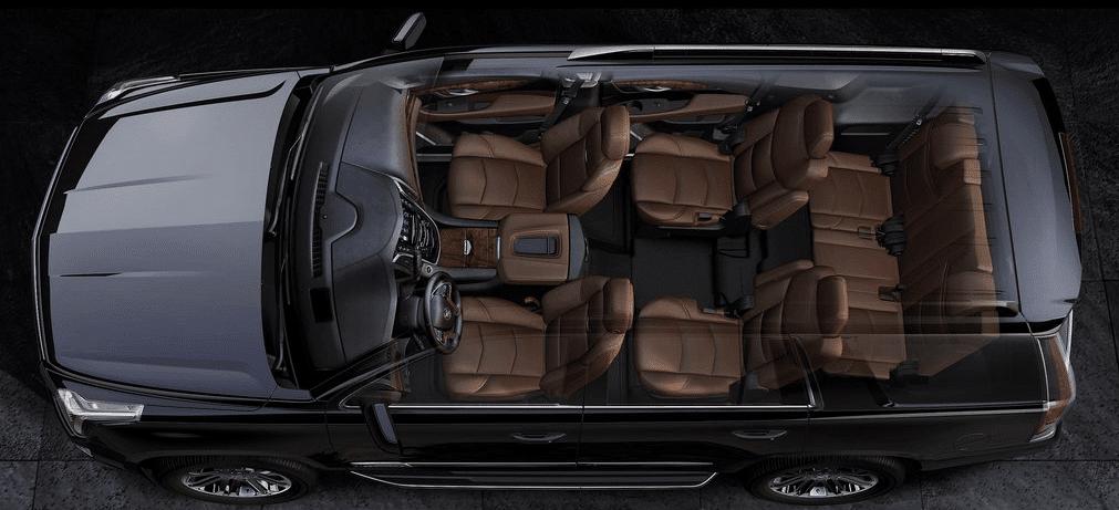 2015 Cadillac Escalade interior cutaway