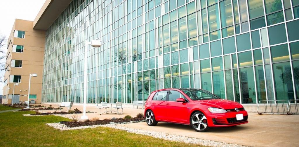 2015 Volkswagen Golf GTI red front