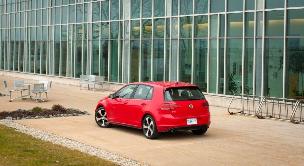 2015 Volkswagen Golf GTI red rear