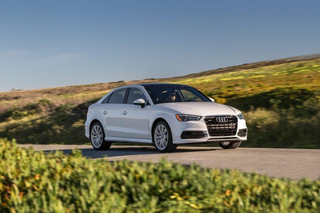 2015 Audi A3 white sedan