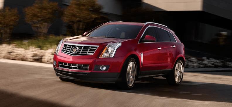 2014 Cadillac SRX red