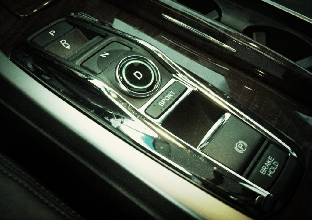 2015 Acura RLX Sport Hybrid electronic shifter