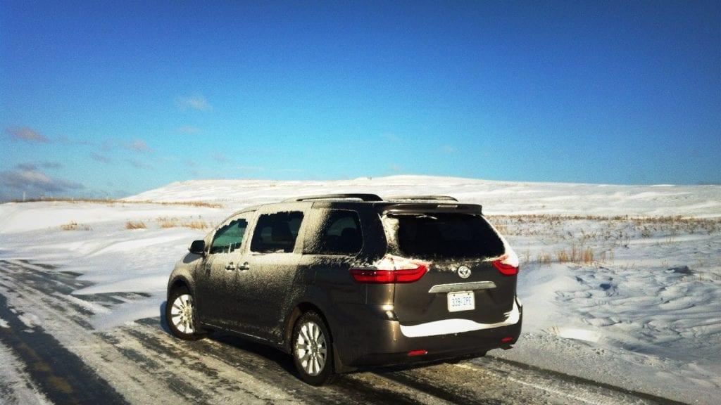2015 Toyota Sienna AWD winter scene