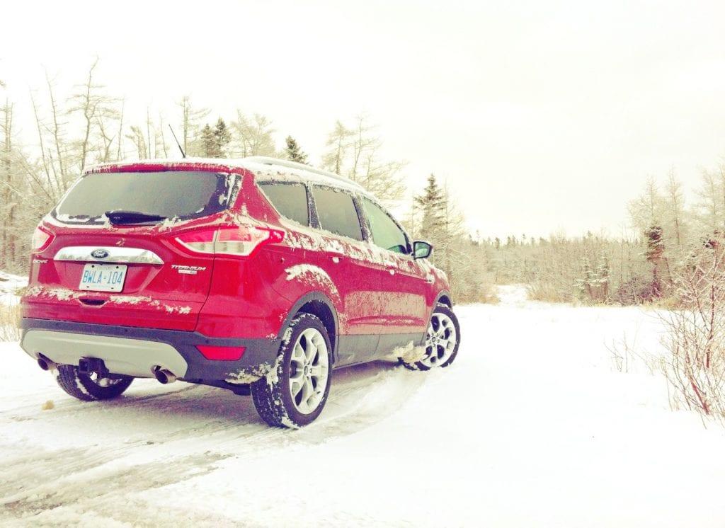 2015 Ford Escape Titanium red rear