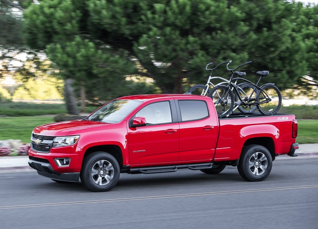 2015 Chevrolet Colorado red crew cab