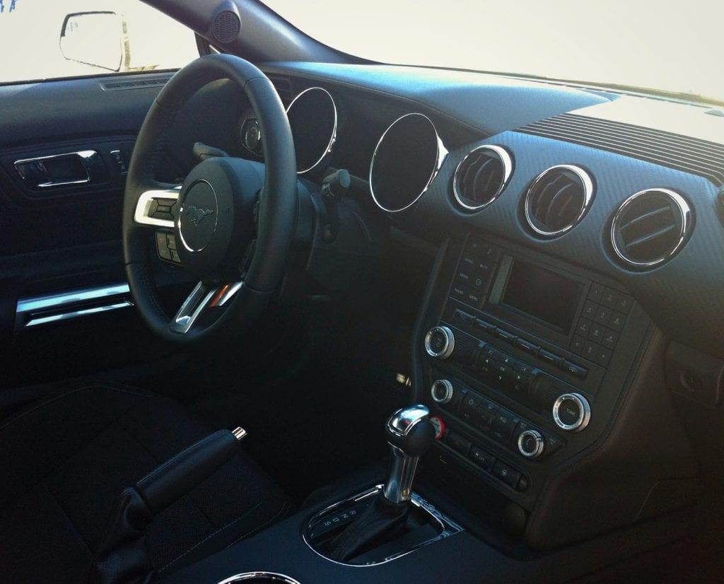 2015 Ford Mustang V6 interior