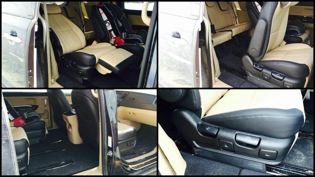 2015 Kia Sedona SXL second row seats
