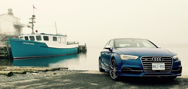 blue 2015 Audi S3 Fishermens Cove