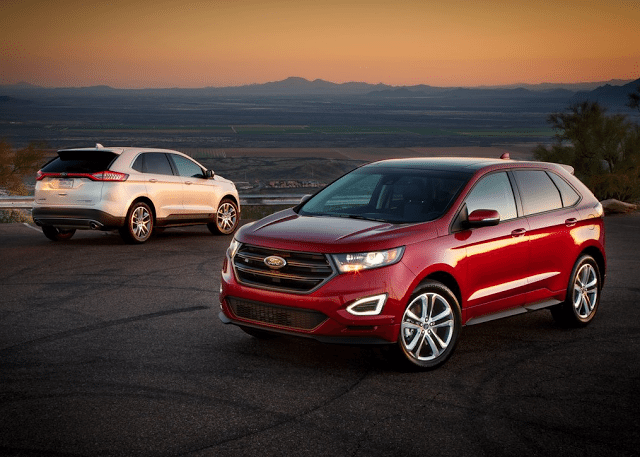2015 Ford Edge red white front back