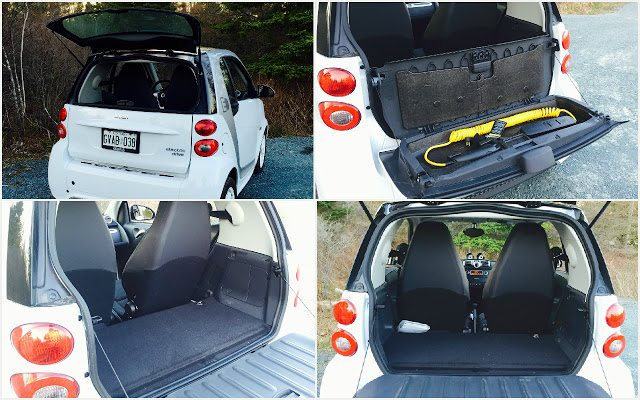 2015 Smart Fortwo cargo area collage