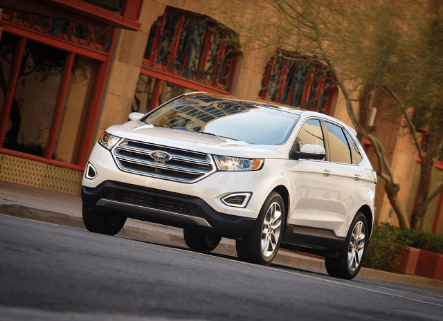2015 Ford Edge white