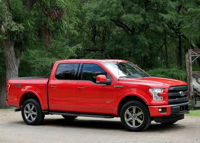 2015 Ford F150 SuperCrew FX4 red