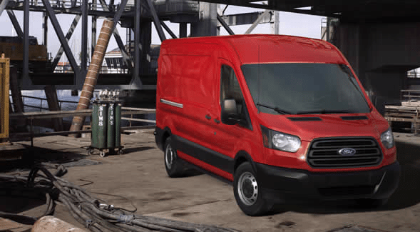 2015 Ford Transit van red