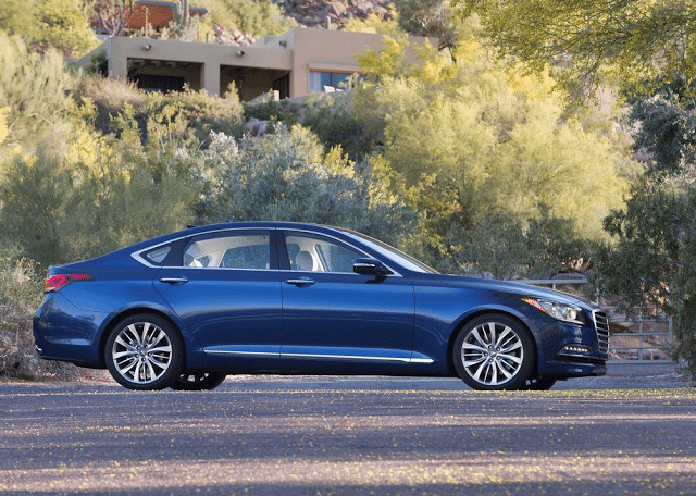 2015 Hyundai Genesis sedan blue