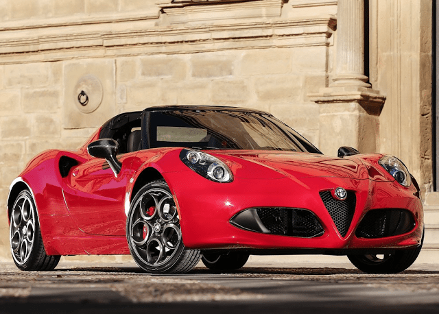 2016 Alfa Romeo 4C Spider red