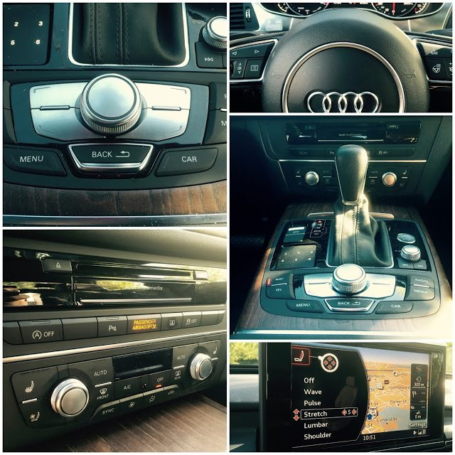 2016 Audi A6 interior collage
