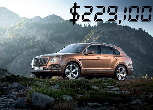 2016 Bentley Bentayga price