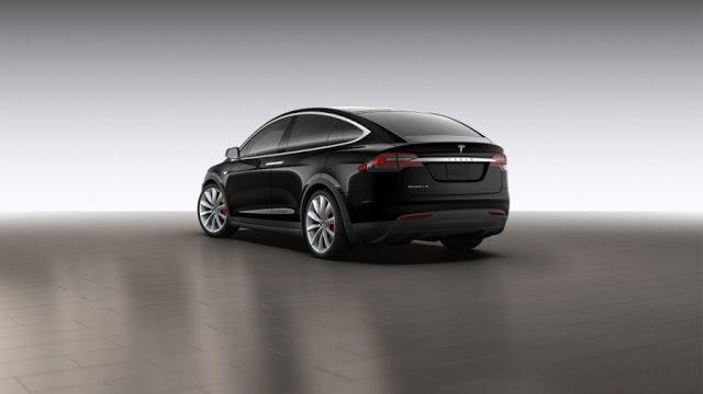 2016 Tesla Model X rear