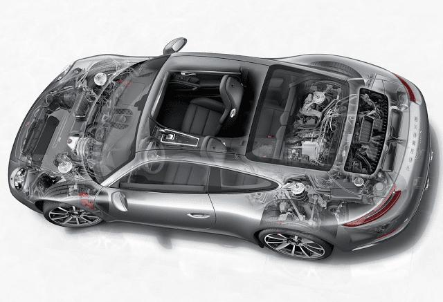 2017 Porsche 911 cutaway