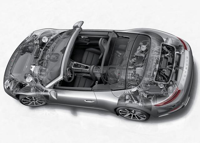 2017 Porsche 911 cabriolet cutaway