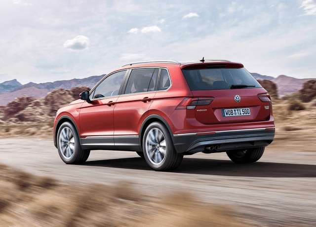 2017 Volkswagen Tiguan rear red