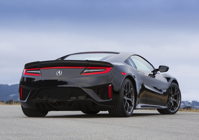 2016 Acura NSX black rear