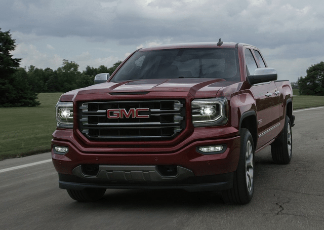 2016 GMC Sierra red