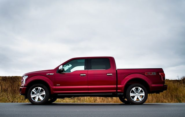 2015 Ford F150 SuperCrew Platinum ruby red