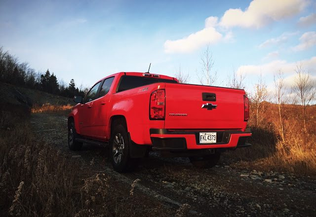 2016 Chevrolet Colorado Z71 rear red