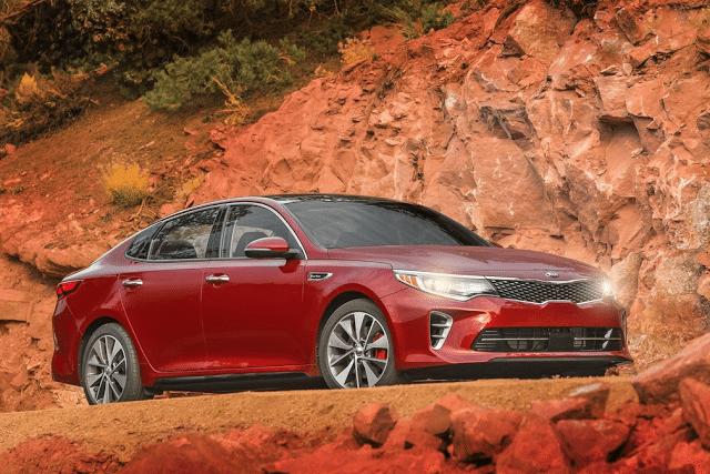 2016 Kia Optima red