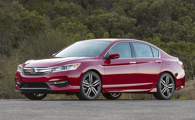 2016 Honda Accord sedan red