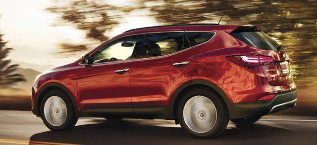 2016 Hyundai Santa Fe Sport red