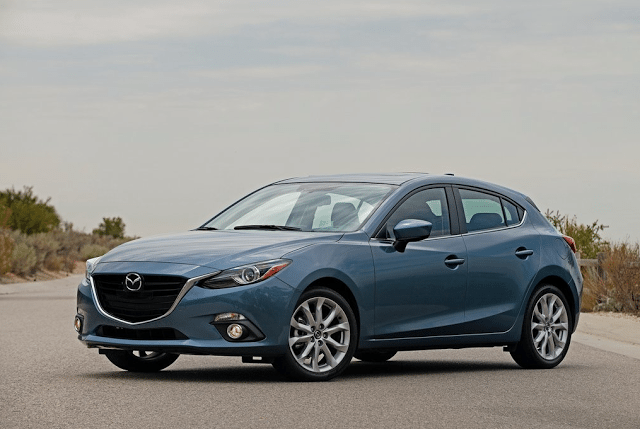 2015 Mazda 3 5-door blue